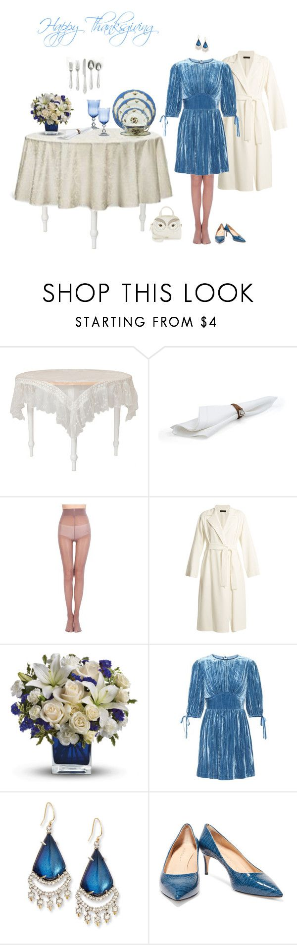 """""""Untitled #1987"""" by milliemarie ❤ liked on Polyvore featuring April Cornell, Waterford, Ralph Lauren, The Row, AlexaChung, Alexis Bittar, Casadei and Kate Spade"""