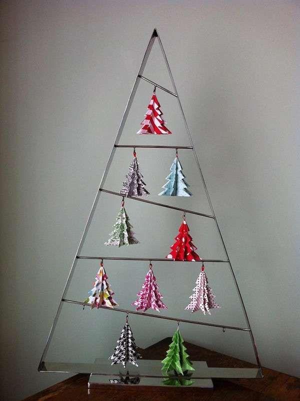 Alberi di Natale di carta per bambini - Origami per Natale