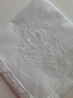 Embroidery It: Machine Embroidery Wedding Hankie
