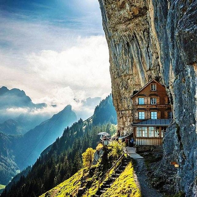hotel on a cliff