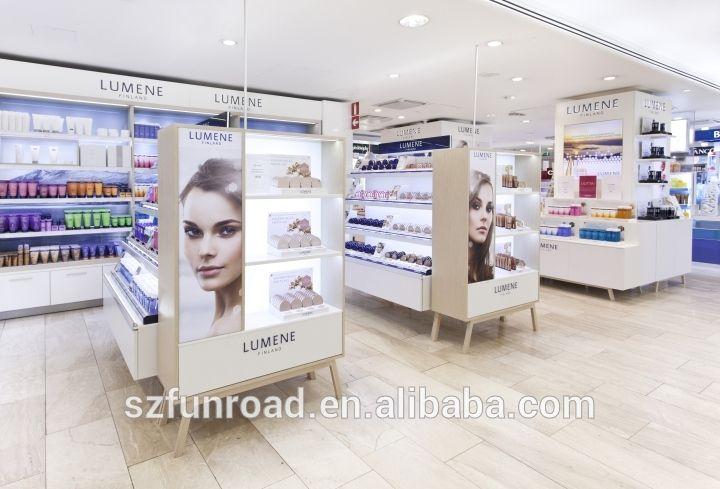 cosmetic interior design cosmetics store showcase furniture/ cosmetics shop decoration