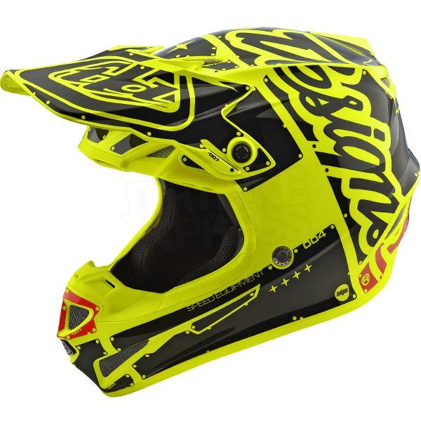Troy Lee Designs Se4 Polyacrylite Helmet Factory Yellow Helmet Troy Lee Motorcycle Helmet Design