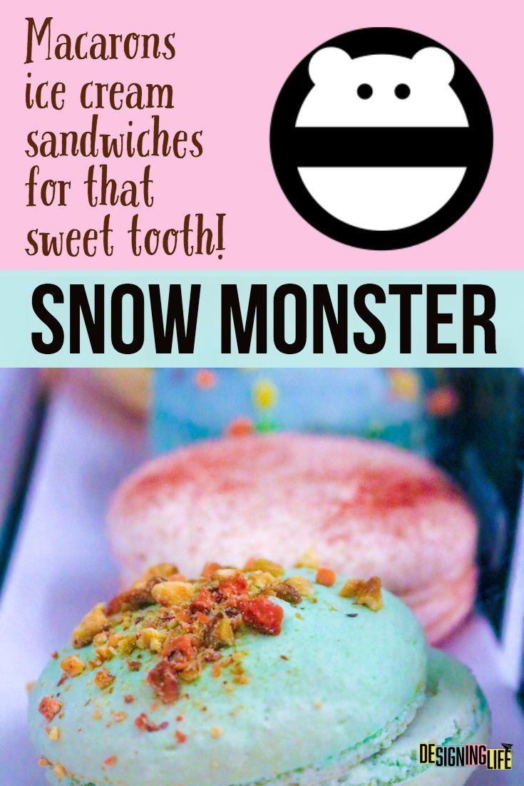 Finding Monster Ice Cream Sandwiches In La Snow Monster Ice Cream Sandwich Vacation Meals Snow Monster