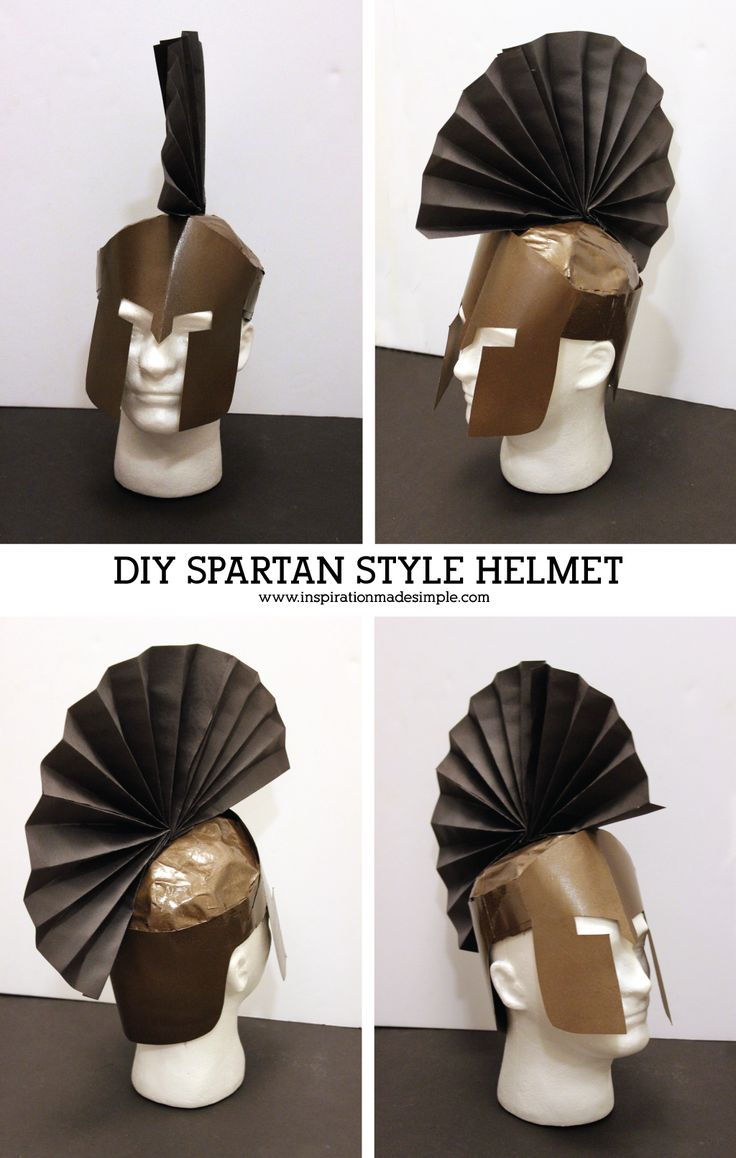 DIY Ares Greek Mythology Costume with Spartan Style Helmet