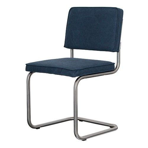 Geen stoel zo comfortabel als een buisframe stoel. Stoel Ridge van Zuiver is er ook nog een keer in heel veel goed te combineren variaties!  Materiaal: 100% katoen Maximaal draaggewicht: 120 kg