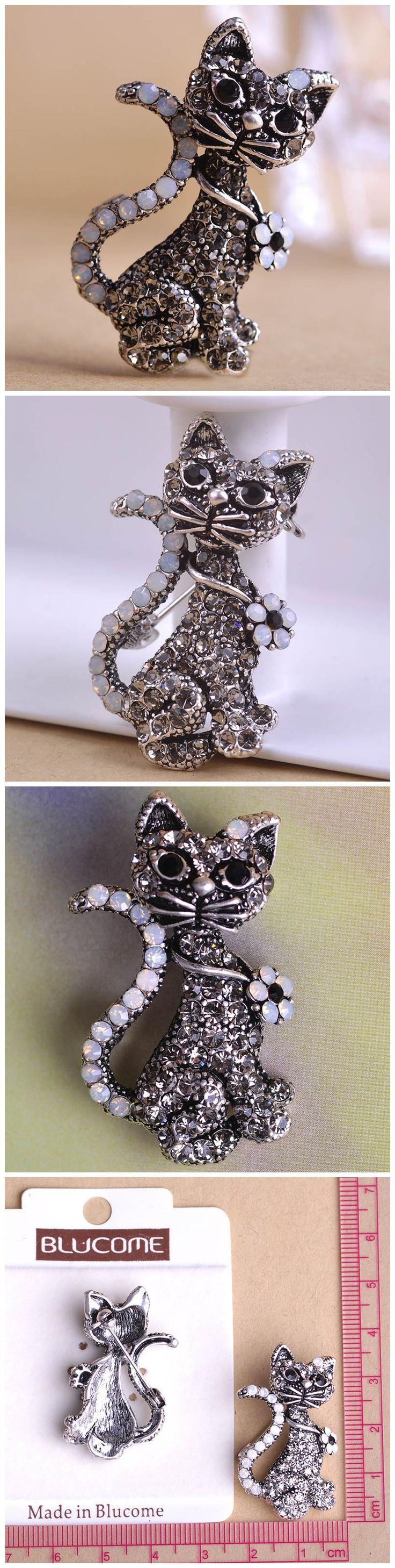 Korea New Arrival Gray Punk Cat Colares Broches Brooches Punk Pins Scarf Pins Brooch Only $9.96  => Save up to 60% and Free Shipping => Order Now! #Ring #Jewelry #woman #fashion  http://www.fancyjewelries.net/product/korea-new-arrival-gray-punk-cat-colares-broches-brooches-punk-pins-scarf-pins-brooch-bouquet-wedding-brooch-wholesale-unhas/