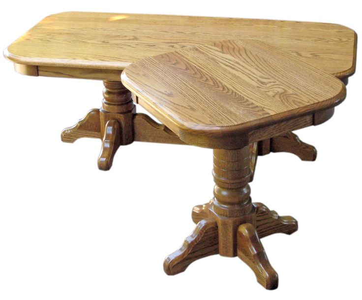 The quality of these water-damaged oak tables made them a breeze to strip and refinish. We brushed on four coats of varnish, fine-sanding between coats.