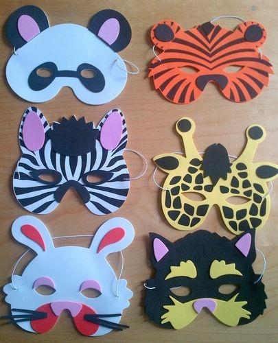 Kids / Children Animal Farm Jungle Foam Mask Masks Party Prize Loot Bags Filler