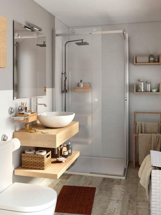 De 50 fotos de ba os decorados insp rate espacios - Revestimientos para banos pequenos ...