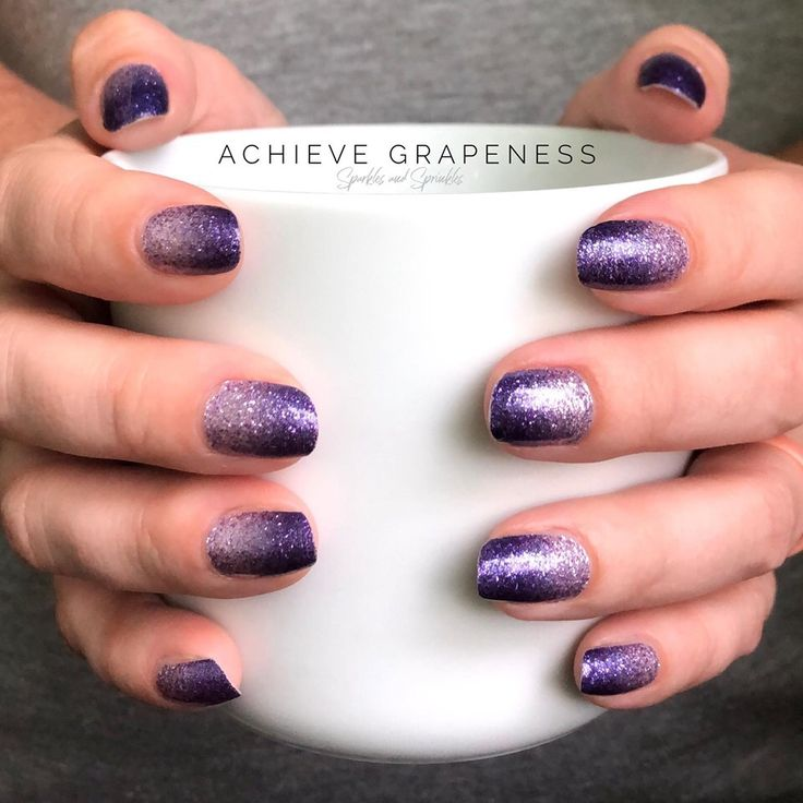 This Gorgeous Purple Ombr 233 Manicure Is Color Street Achieve Grapeness Easy Ombr 233 Glitter Nails