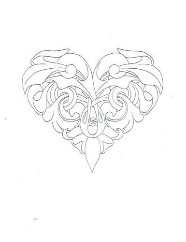 Western Heart Pattern by Jim Linnell #flowertattoos