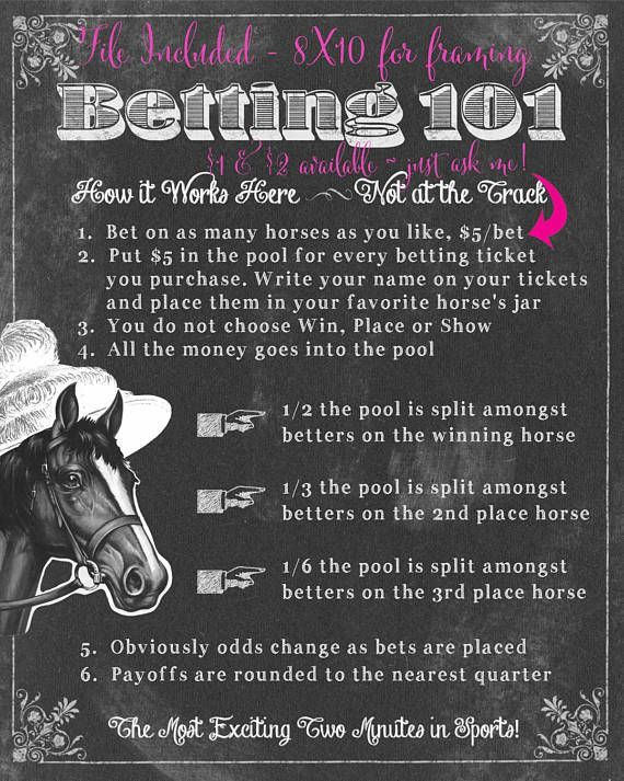 Kentucky Derby Party Betting Game Printable Preakness Belmont Kentucky Derby Party Kentucky Derby Party Games Kentucky Derby Engagement Party