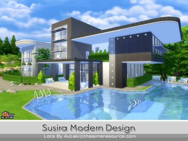 susira modern design by autaki at tsr via sims 4 updates - Sims 4 Home Design