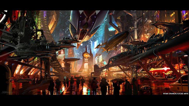 """El arte de """"La guerra de las galaxias"""". Ryan Church/Lucas Arts"""