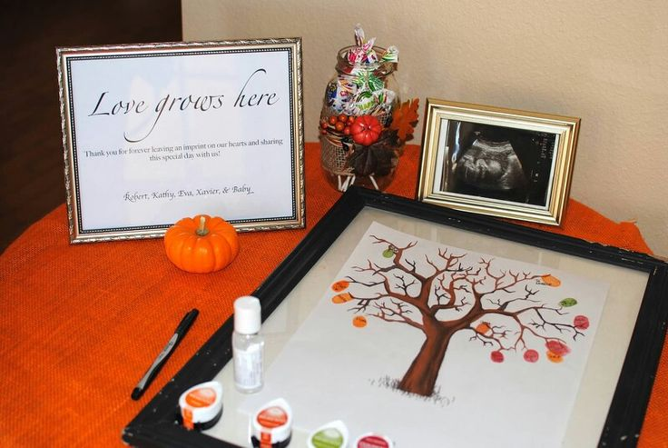Our fall themed baby shower!