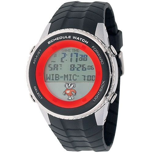 "Wisconsin Badgers ""Badger"" Logo Schedule Watch, only $ 99.95 at MyTeamBling.com. http://www.myteambling.com/wisconsin-badgers-schedule-watch-badger-logo.html... #wisconsinbadgers #wisconsinbadgerswatches #wisconsinbadgersschedulewatch"