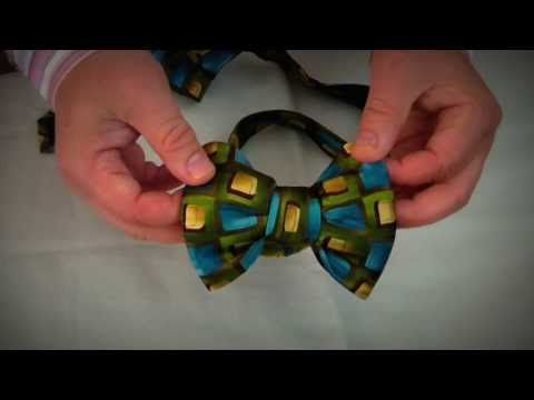 Ignore the heinous tie... Sweet idea!  Make a Fabulous Bow Tie out of a regular tie! - YouTube
