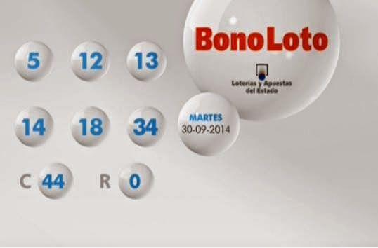 España: Loterías y Apuestas del Estado celebro Los sorteos Euromillones y Bonoloto correspondiente a la fecha martes 30 de septiembre 2014. Resultados Euromillones martes 30 de Septiembre 2014. -Combinación Ganadora:-3-13-15-33-42 -Nº Estrellas-5 y 7