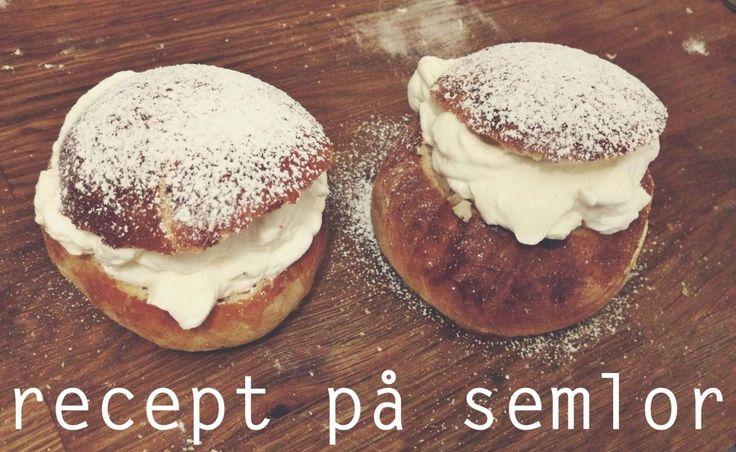 Semlor - recept. Bästa receptet på fastlagsbullar.  Semlor recipe - Swedish creamy almond buns!
