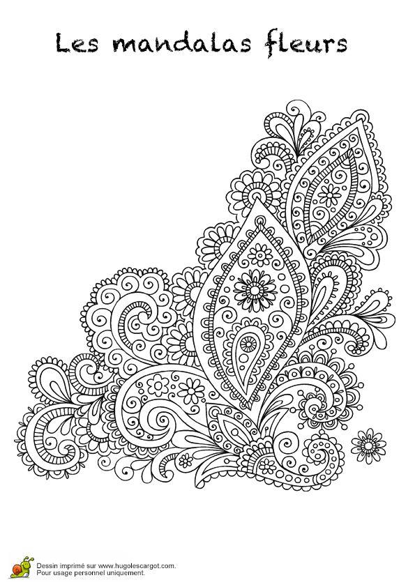 Coloriage les mandalas fleurs sur hugo 20 sur - Hugolescargot com coloriage ...