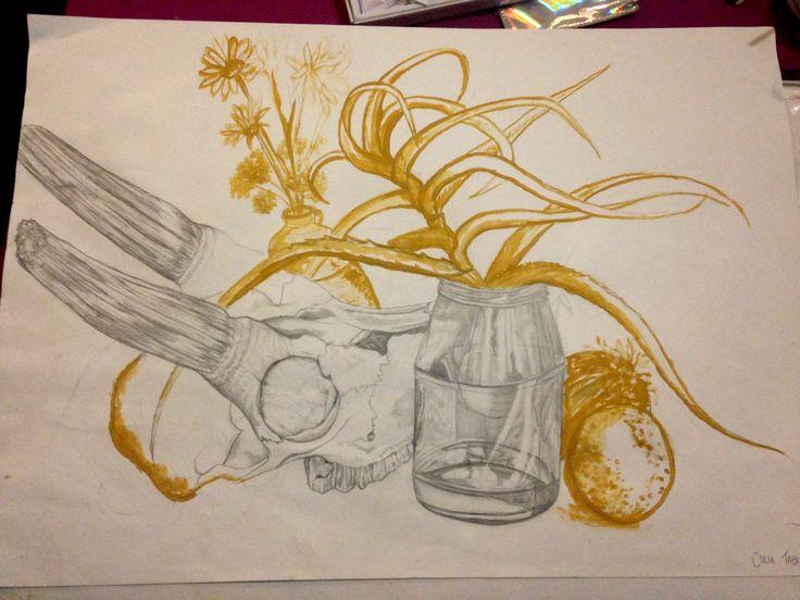 Pencil and gouache #art #stilllife