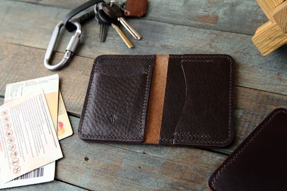 Men's Leather Wallet Horween leather two tone от Manufacturabrand