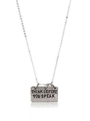 61% OFF Alisa Michelle Think Before You Speak Necklace