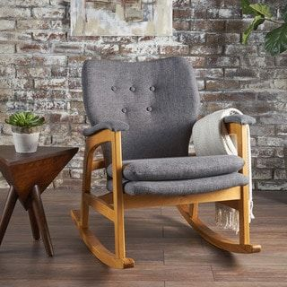 Shop for Braant Mid Century Fabric Rocking Chair by Christopher Knight Home. Get free shipping at Overstock.com - Your Online Furniture Outlet Store! Get 5% in rewards with Club O! - 23996474