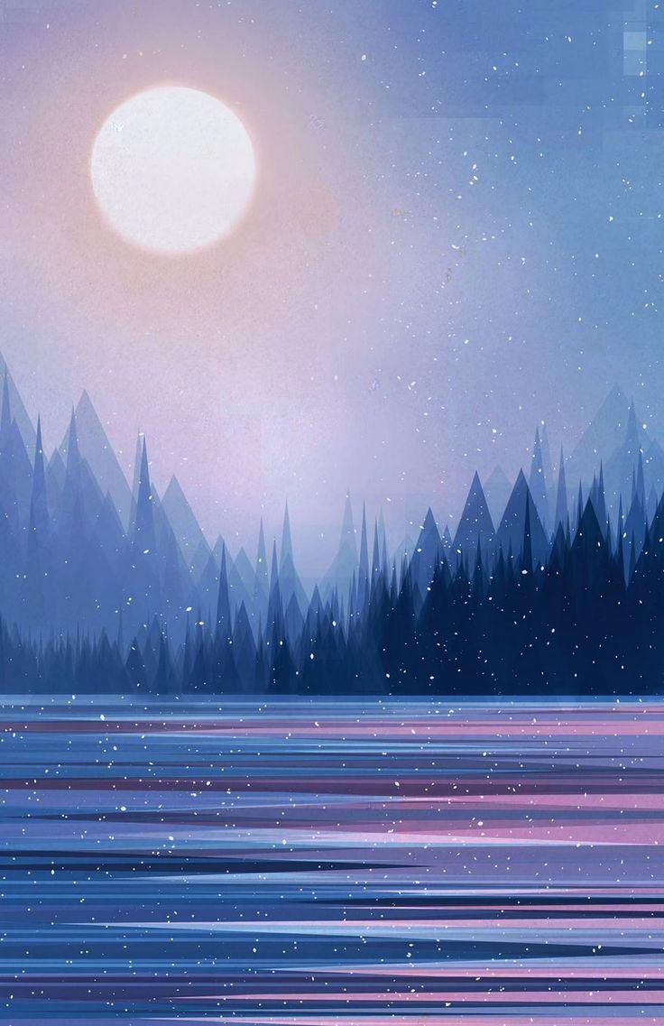 O ilustrador Scott Uminga sobrepõe camadas para criar paisagens vibrantes. Seu estilo geométrico se assemelha às fotografias de Qi Wei. Uminga conta que se inspira com uma caminhada numa noite chuv…