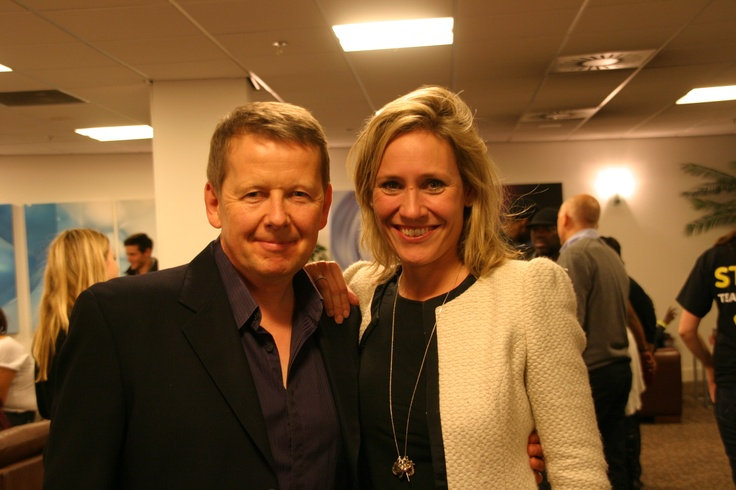 BBC Breakfast's Bill Turnbull and Sophie Raworth from BBC News and Watchdog Daily - don't they look sophisticated - wait till we see them perform #CiN
