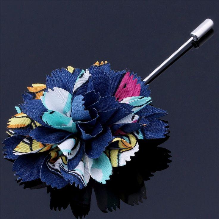Pretty Multi-Color Unisex HAWSON Fabric Brooch Pins Men's Fashion Accessories