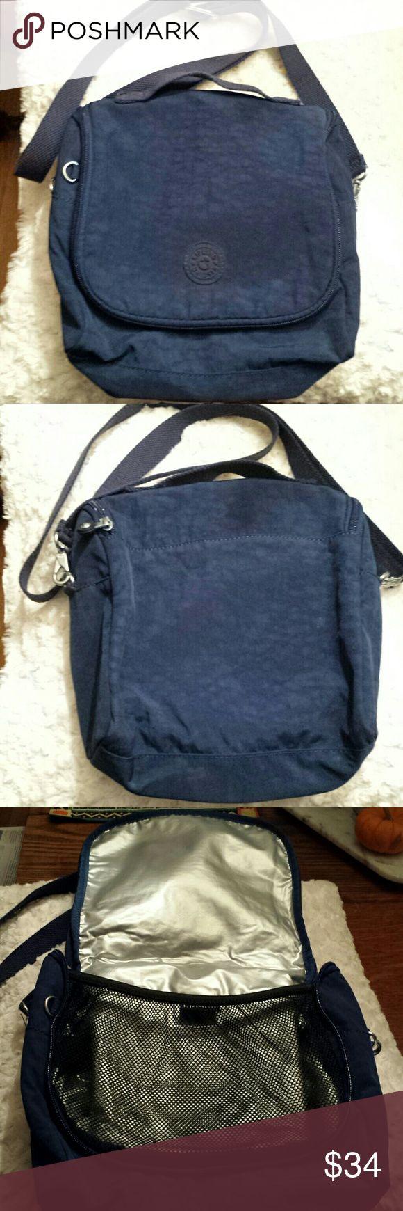 Kipling Kichirou Paradise Crossbody Lunch Bag Kipling - Navy Crossbody Insulated lunch bag Good condition / gently used Kipling  Bags Crossbody Bags