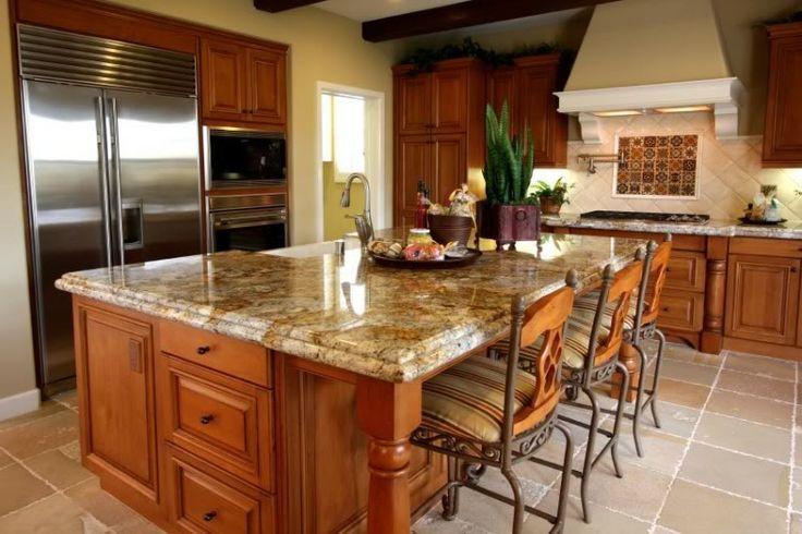 Quartz Countertops AND Golden Oak Cabinets | Oak Cabinets With Granite  Countertops | We Have Full Time Installer To ... | Home Creations |  Pinterest | Honey ...