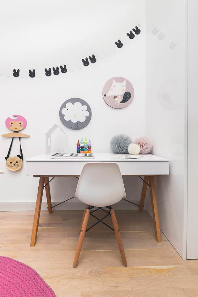 I really like this desk, not the surrounding things though... those are a bit to childish for me (could be possible since this is in a child's room)