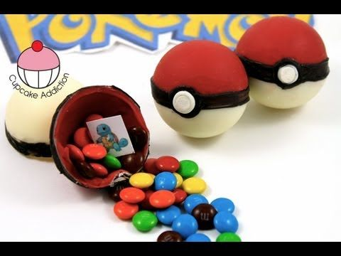 Candy Pokeballs! Make Edible Pokemon Pokeballs - A Cupcake Addiction How...