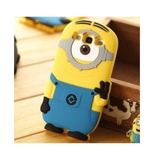 Stylish Single Eye Style Minions Despicable Me 2 Silicone Back Case Cover for SAMSUNG GALAXY S III S3 i9300 - Cartoon Samsung Galaxy S3 Case...