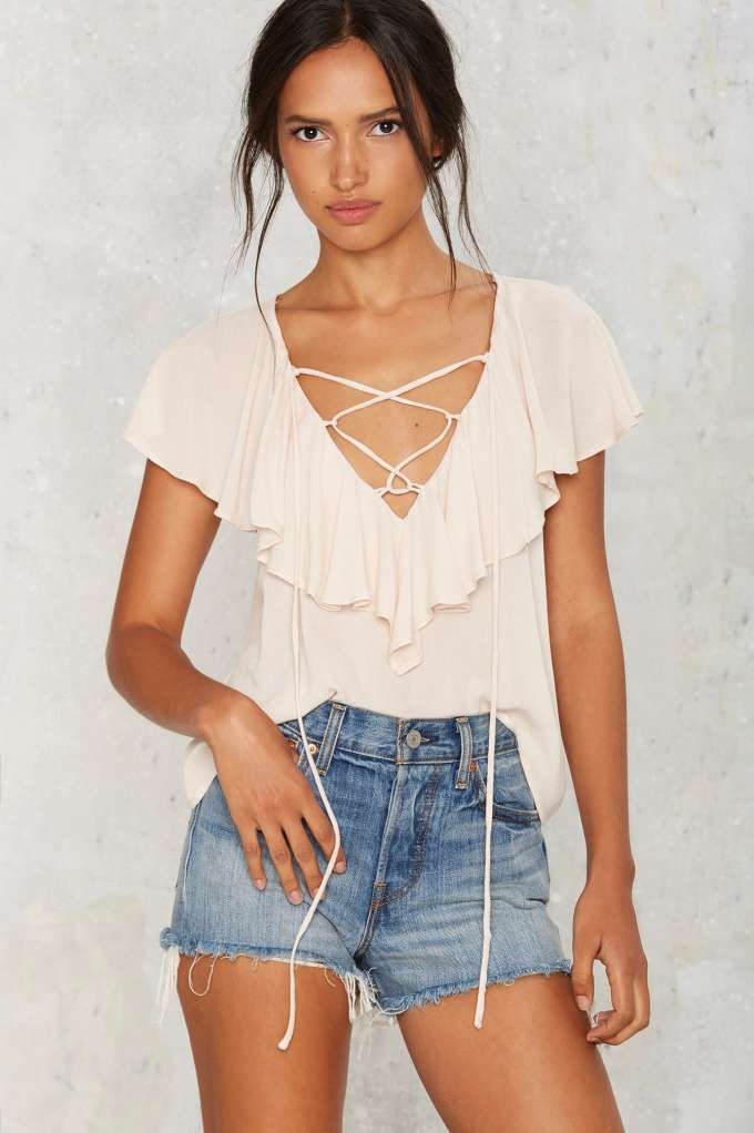 Pull Some Strings Ruffle Top | Shop Clothes at Nasty Gal!