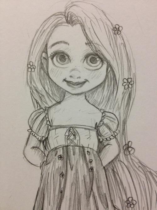 baby rapunzel sketch - Google Search