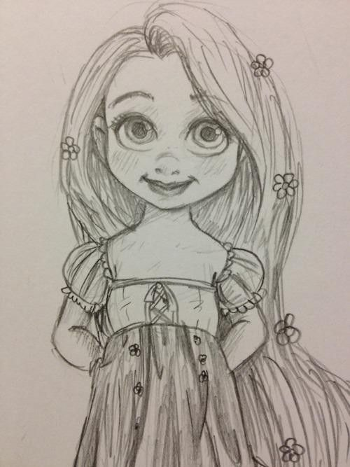 baby rapunzel sketch - Google Search | Sketches ...