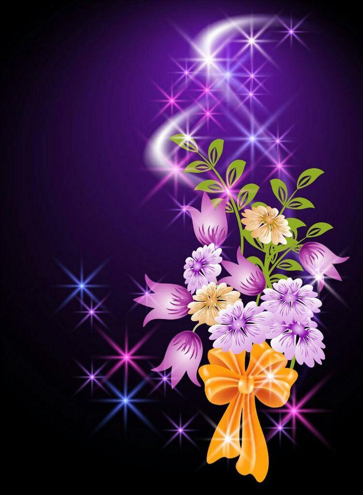 Открытки, картинки цветы анимации для телефона