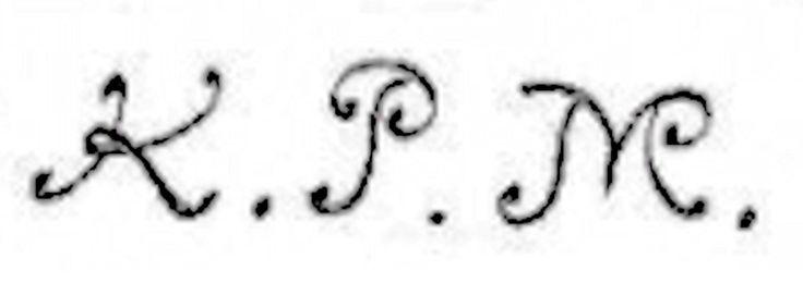 K.P.M. – Königliche Porzellan Manufaktur, (Royal Porcelain Manufactury). Used after 1722 for Meissen