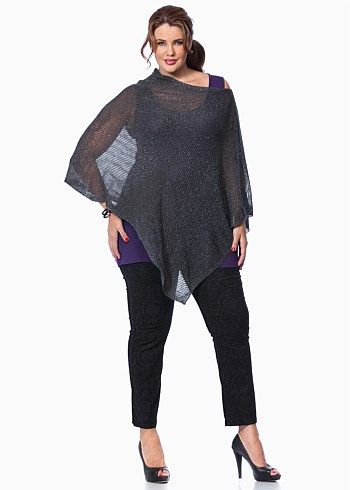 #Virtu Fabled Fields Poncho #plussize #curvy