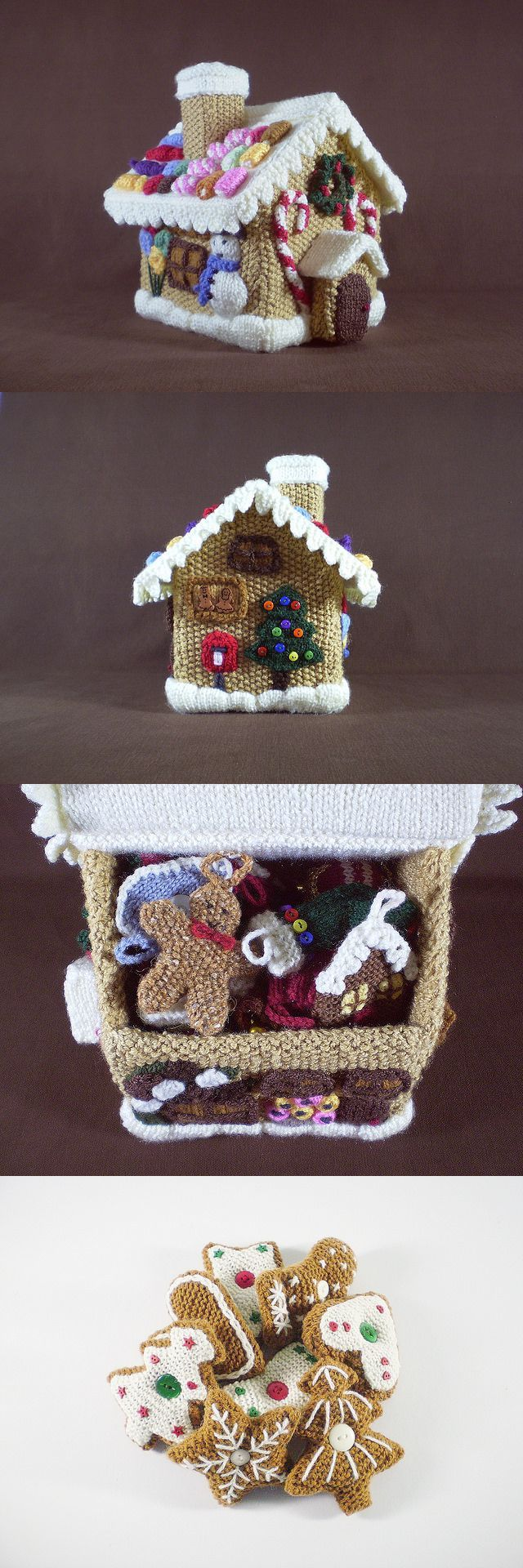 Awesome Gingerbread House by Frankie Brown! #FreePattern