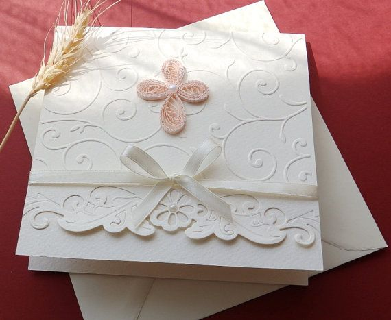 Christening handmade invitation/Unique Baptism