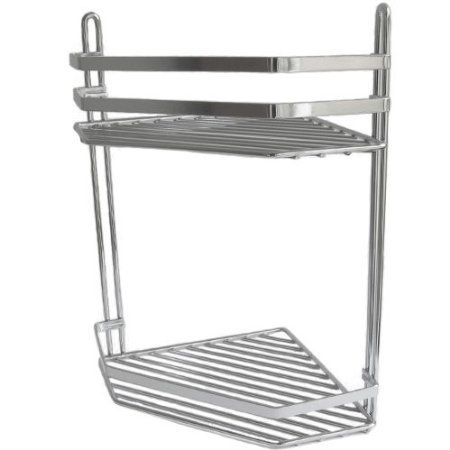 Freelogix 2 Tier Vita Chrome Corner Shower Caddy Shelf
