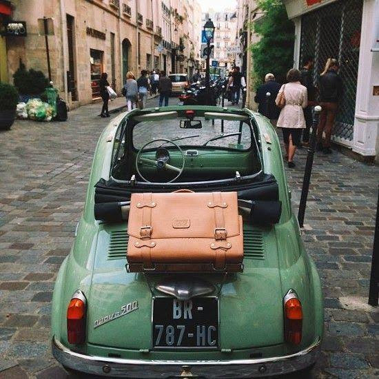 #paris streets & fiat 500 | instagram by kat in nyc