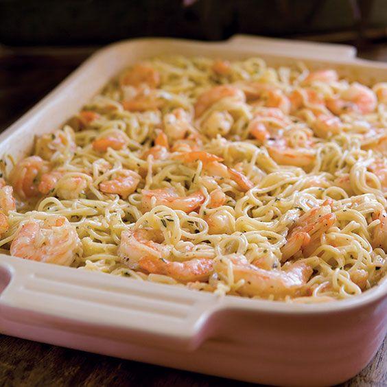 baked shrimp spaghetti