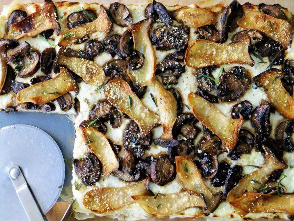 King Oyster and Crimini Three Cheese Mushroom Tart - PROUD ITALIAN COOK