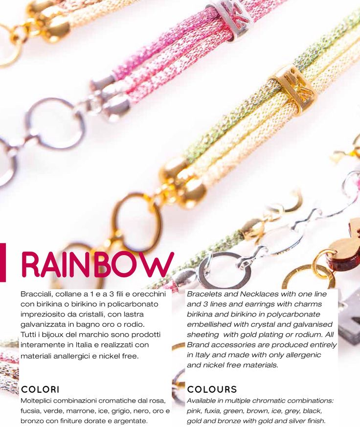 RAINBOW A/W 2014 2015 Collection! Bracciali, collane e orecchini by birikini ! Worldwide export.. www.ibirikini.com