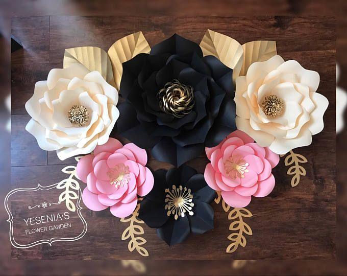 6 flores de papel
